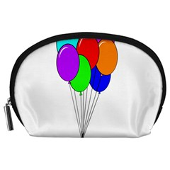 Colorful Balloons Accessory Pouches (Large)