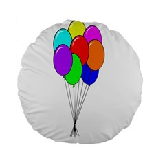 Colorful Balloons Standard 15  Premium Flano Round Cushions