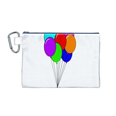 Colorful Balloons Canvas Cosmetic Bag (M)