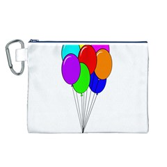 Colorful Balloons Canvas Cosmetic Bag (L)