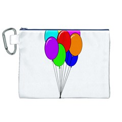 Colorful Balloons Canvas Cosmetic Bag (XL)