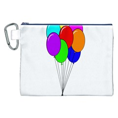 Colorful Balloons Canvas Cosmetic Bag (XXL)