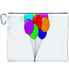 Colorful Balloons Canvas Cosmetic Bag (XXXL)