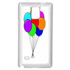 Colorful Balloons Samsung Galaxy Note 4 Case (White)