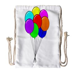 Colorful Balloons Drawstring Bag (Large)