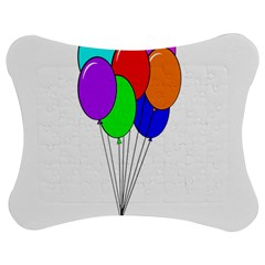 Colorful Balloons Jigsaw Puzzle Photo Stand (Bow)