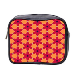 Red flowers pattern                                                                            Mini Toiletries Bag (Two Sides)