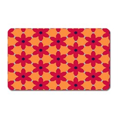 Red flowers pattern                                                                            			Magnet (Rectangular)