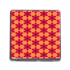 Red flowers pattern                                                                            Memory Card Reader (Square)