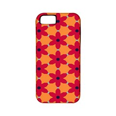 Red flowers pattern                                                                            			Apple iPhone 5 Classic Hardshell Case (PC+Silicone)