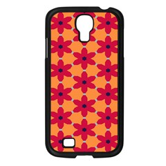 Red flowers pattern                                                                            			Samsung Galaxy S4 I9500/ I9505 Case (Black)