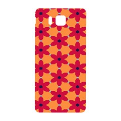 Red flowers pattern                                                                            			Samsung Galaxy Alpha Hardshell Back Case