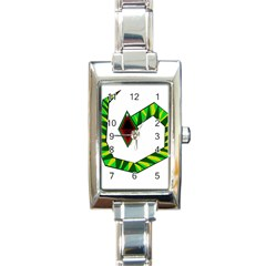 Decorative Snake Rectangle Italian Charm Watch