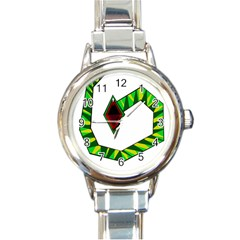 Decorative Snake Round Italian Charm Watch