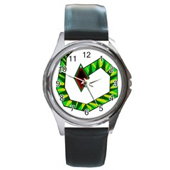 Decorative Snake Round Metal Watch