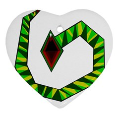 Decorative Snake Ornament (heart)