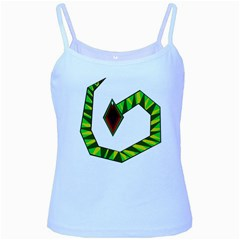 Decorative Snake Baby Blue Spaghetti Tank
