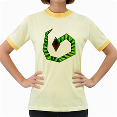 Decorative Snake Women s Fitted Ringer T-Shirts