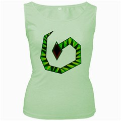 Decorative Snake Women s Green Tank Top