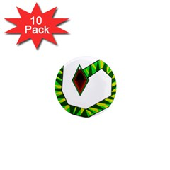 Decorative Snake 1  Mini Magnet (10 pack)