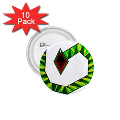 Decorative Snake 1.75  Buttons (10 pack)