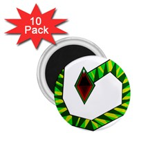 Decorative Snake 1.75  Magnets (10 pack)