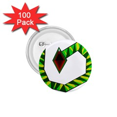 Decorative Snake 1 75  Buttons (100 Pack)