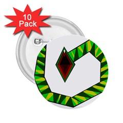 Decorative Snake 2 25  Buttons (10 Pack)