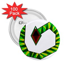 Decorative Snake 2 25  Buttons (100 Pack)