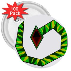 Decorative Snake 3  Buttons (100 Pack)