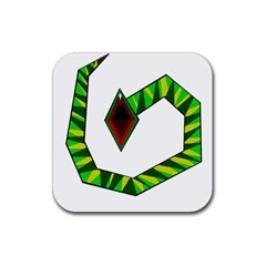 Decorative Snake Rubber Square Coaster (4 pack)