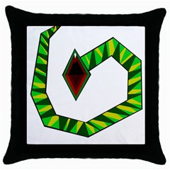 Decorative Snake Throw Pillow Case (black)