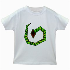 Decorative Snake Kids White T Shirts