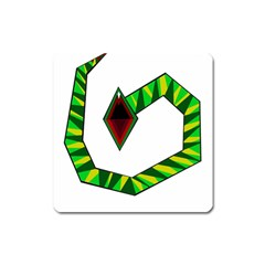 Decorative Snake Square Magnet