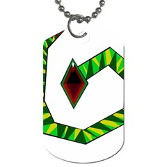 Decorative Snake Dog Tag (One Side)