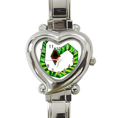 Decorative Snake Heart Italian Charm Watch