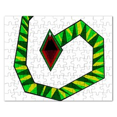 Decorative Snake Rectangular Jigsaw Puzzl