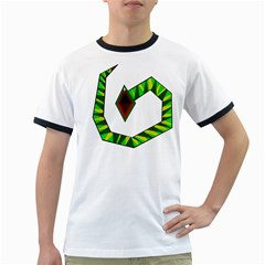Decorative Snake Ringer T-Shirts