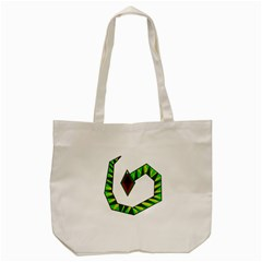 Decorative Snake Tote Bag (Cream)