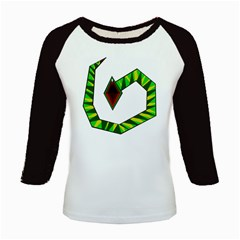 Decorative Snake Kids Baseball Jerseys