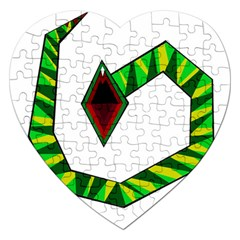 Decorative Snake Jigsaw Puzzle (heart)