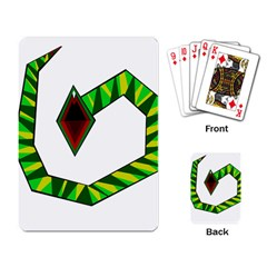 Decorative Snake Playing Card