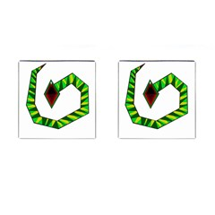 Decorative Snake Cufflinks (Square)