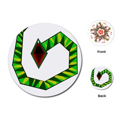 Decorative Snake Playing Cards (Round)