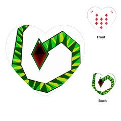 Decorative Snake Playing Cards (Heart)