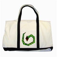 Decorative Snake Two Tone Tote Bag