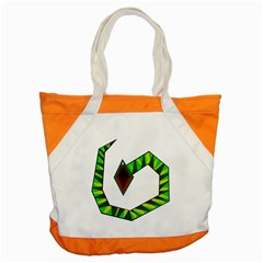 Decorative Snake Accent Tote Bag