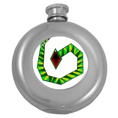 Decorative Snake Round Hip Flask (5 oz)