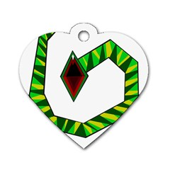 Decorative Snake Dog Tag Heart (One Side)