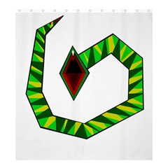 Decorative Snake Shower Curtain 66  x 72  (Large)